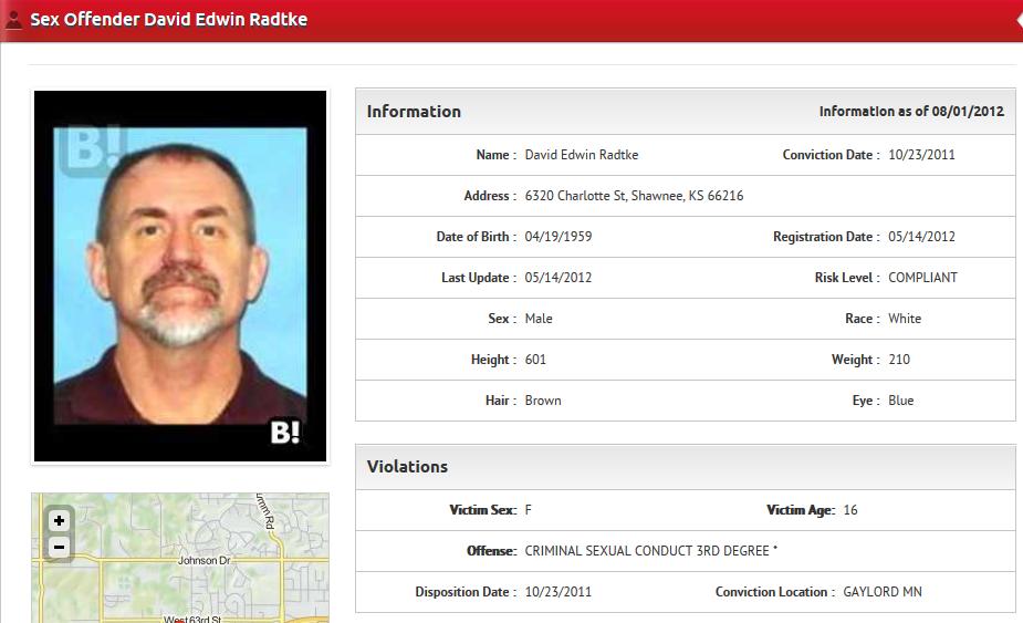 David Edwin Radtke deemed sexual predator