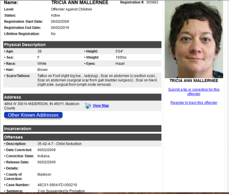 Tricia Ann Mallernee deemed sexual offender